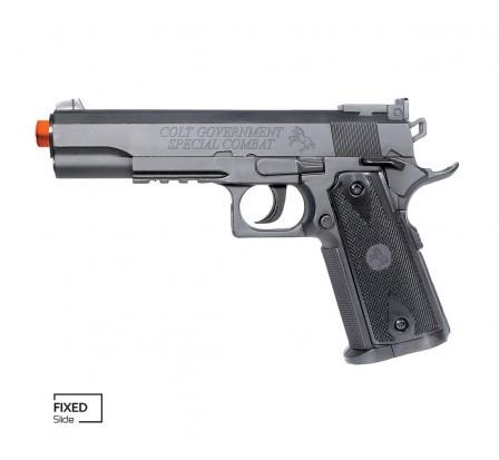 Pistola de Airsoft COLT 1911 MATCH CO2 SLIDE FIXO 6MM CYBER GUN