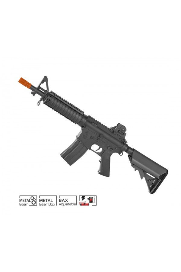 RIFLE AIRSOFT COLT CQB BLACK AEG SEMI METAL 6mm Cyber Gun