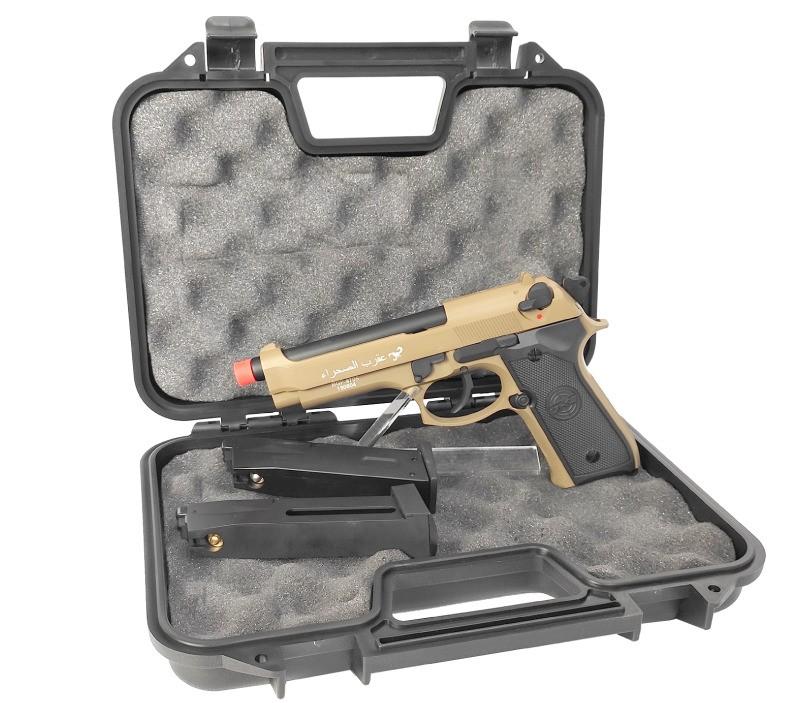 Pistola de Airsoft SR-92 Série Especial BGP - SRC Desert