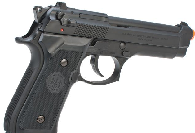 Pistola de Airsoft a Gás M92F Military, GBB, Full Metal, Blowback Tokio Marui