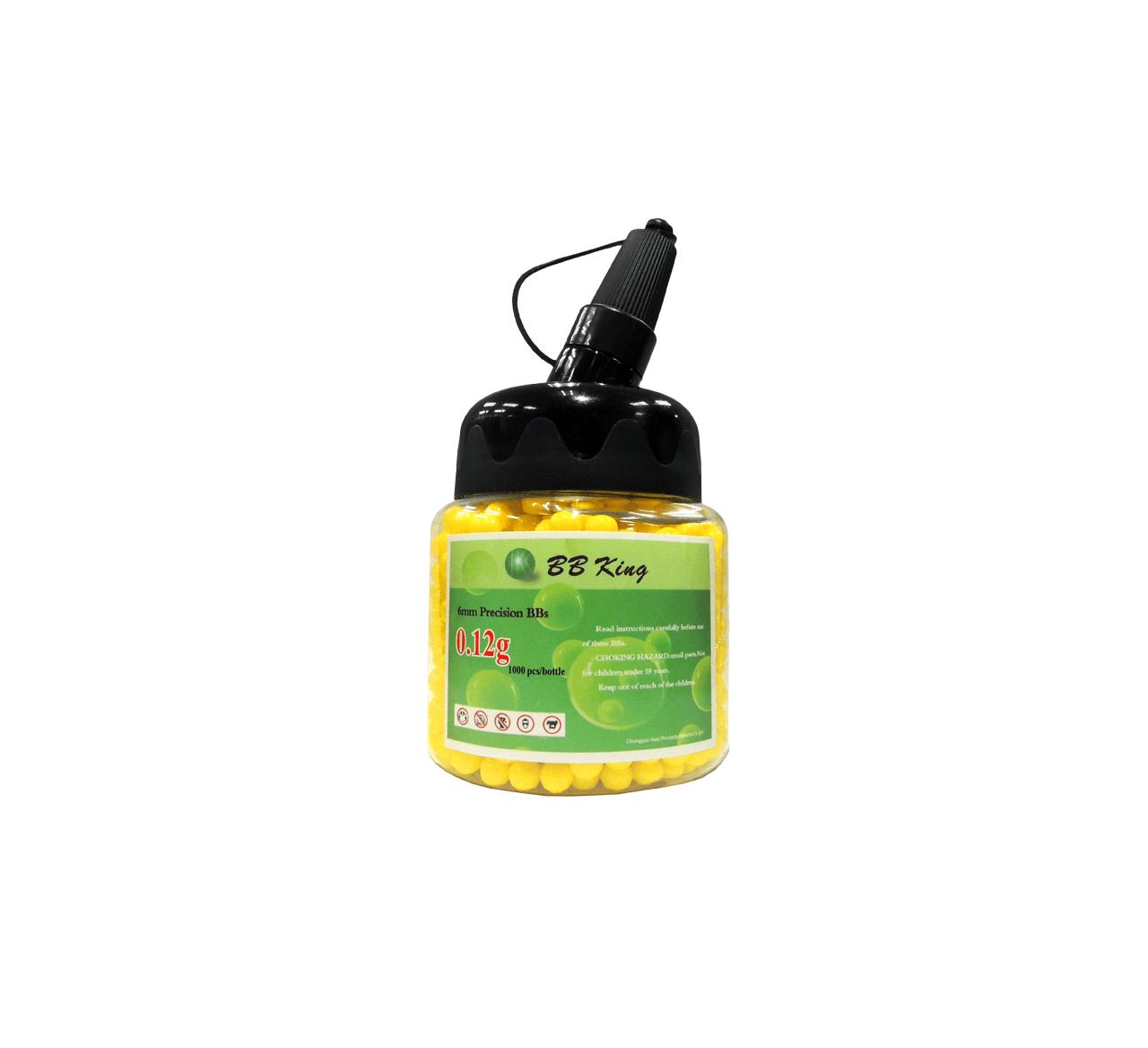 Esfera plástica BBS KA - King Arms amarela 0,12g 6mm 1000 unidades