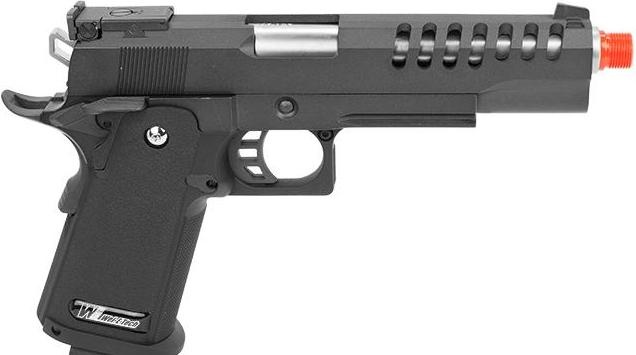 Pistola de Airsoft a Gás HI-CAPA Hyper Speed, GBB, Full Metal, Blowback WE