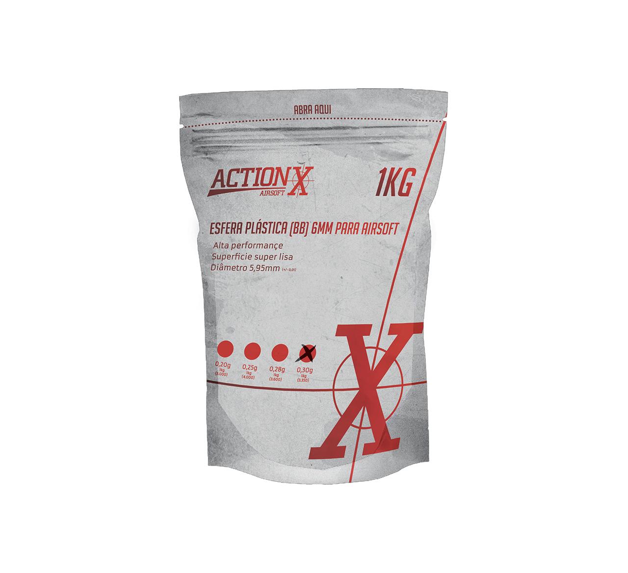 Esfera plástica ActionX branca 0,30g (3350un) 6mm