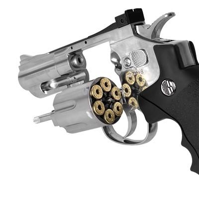 Revólver de pressão CO2 WG Rossi 708S 4,5mm 6 tiros 2pol. - full metal