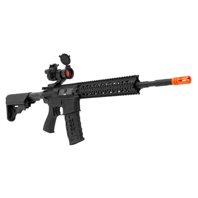 Rifle de Airsoft Elétrico G&G CM16 R8-L 6MM - com Mira Optrônica 30mm