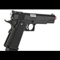 Pistola de Airsoft a Gás HI-CAPA 5.1 (Hi-Kick Hi-Grouping), GBB, Full Metal, Blowback, Preta Tokyo Marui