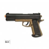 PISTOLA AIRSOFT COLT MK IV 1911 TAN MOLA POLÍMERO 6mm Cyber Gun