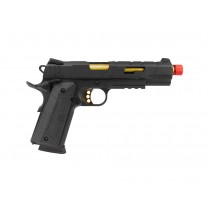 Pistola Airsoft Rossi Redwings Gold 1911 Green Gas