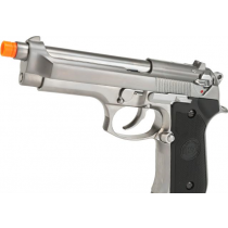 Pistola de Airsoft a Gás M9 Heavy Weight, GBB, Full Metal, Blowback, Silver WE