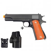 PISTOLA DE AIRSOFT SPRING GALAXY G13 COLT 1911 FULL METAL C/ COLDRE MOLA 6MM