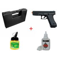 KIT Pistola de Airsoft Spring Glock G7 KWC 6mm + Maleta + BBS 12 GR 1000 Unidades + Silicone