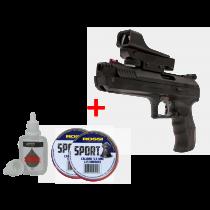 KIT Pistola de Pressão Beeman 2006 5.5mm + Red Dot + 2 Chumbinho Rossi + Silicone