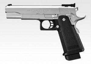 Pistola de Airsoft a Gás HI-CAPA 5.1 (Hi-Kick Hi-Grouping), GBB, Full Metal, Blowback, Silver Tokyo Marui
